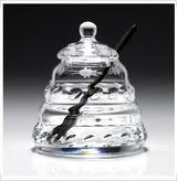 Crystal Honey Jar & Spoon - Buzzy by William Yeoward