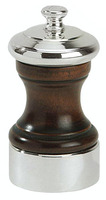 Silver Plated and Dark Wood Peugeot Salt Mill