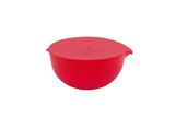 Large Frost Bowl With Lid - Red