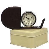 Fold Away Alarm Clock - Brown