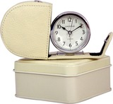 Fold Away Alarm Clock - Cream