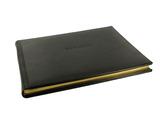 Plain Mocha Leather Game Book