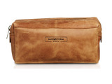 Leather Weekend Washbag