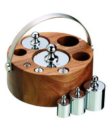 8 Piece Imperial Weight Set - Acacia