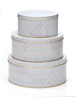 Vintage Rose Cake Tins - set of 3