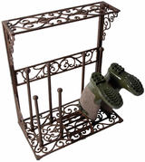 Wrought Iron Boot Rack - Large