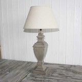 Washed Ash Urn Lamp & Shade