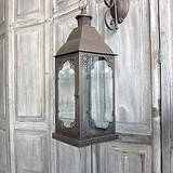Floral 'Antique Rust' Metal Lantern