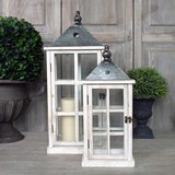 Antique White Lanterns (Pair)