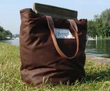 Chocolate Brown & Tweed Picnic Bag