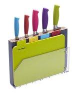 Colourworks 9 Piece Knife Block & Board