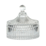 Ridged Glass Powder Jar