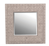 Square Metal Embossed Mirror