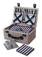 Lighthouse Stripe 4 Person Hamper
