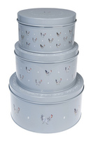 'Chickens' Cake Tins - set of 3