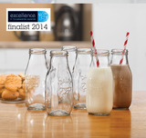 Mini Milk Bottles (set of 6)