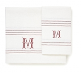 Monogrammed Linen Hand Towels - Set of Two