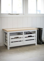 Emsworth Spruce Storage Bench & Crates