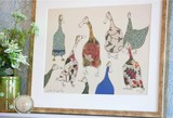 'Ladies who Lunch' Mounted Print