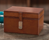 Leather Cufflink/Trinket Box