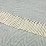 Herringbone Shetland Throw - Aqua