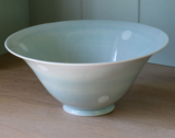 Large Blue and White Spot Salad Bowl
