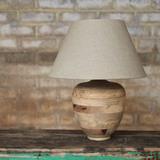 Kangri Carved Lamp & Shade
