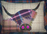 Handmade Highland Cow Cushion 2