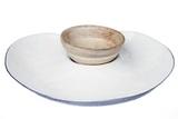 Enamel Serving Heart & Dipping Bowl