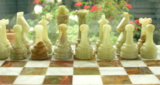 Marble Chess Set with Board & Case