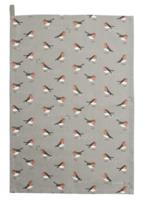 Robin & Mistletoe Tea Towel
