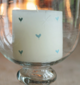 Blue Heart Scented Pillar Candle