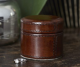Small Handcrafted Leather Trinket Box
