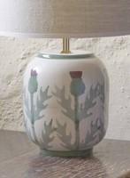 Cream Thistle Lamp Base - Small