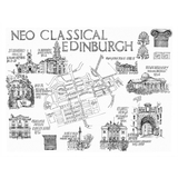 'Neo Classical Edinburgh' Mounted Print