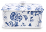 Botanic Blue Porcelain Butter Dish