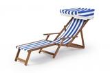 Edwardian Deckchair with Stool