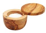 Olive Wood Salt Pot & Lid