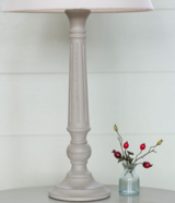 Reeded Wooden Lamp Base