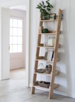 Raw Oak Shelf Ladder
