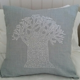 Blue French Knot Baobab Cushion Cover - Large
