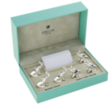 Silver Plated Place Card Holders - Elephants (set of 6)