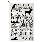 'Black Toast' Labrador Tea Towel