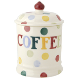 Polka Dot Coffee Storage Jar
