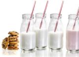 Mini Milk Bottle & Straw (set of 4)