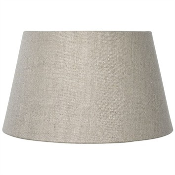 natural linen drum shade at the perfect present company. Black Bedroom Furniture Sets. Home Design Ideas