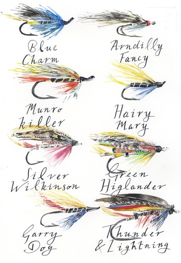 'Salmon Flies' Unmounted Print