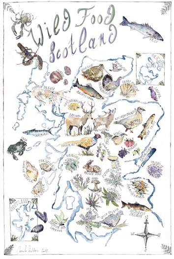 Framed 'Wild Food Scotland' Print