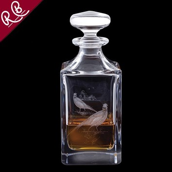 Engraved Game Pheasant Decanter