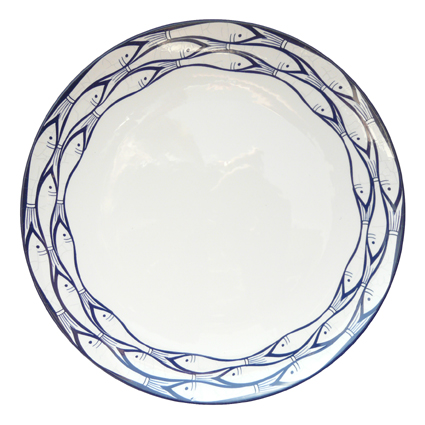 sardine run dinner plate at the perfect present company